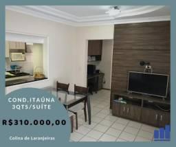 DS. Apartamento de 3 quartos com suíte no condomínio Itaúna Aldeia Parque