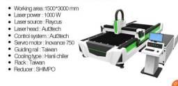 Máquina de corte a laser fibra óptica para metal