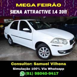 Mil de Entrada Mega Feirão!!! Siena Attractive 1.4 2011 - Simulação via Whatsapp