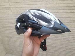 Capacete para ciclismo MTB ventilado leve ajustável novo