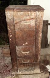 Fogão A Lenha De Ferro Fundido Antigo/ Salamandra