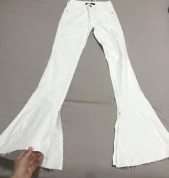 Calça Jeans branca Flare
