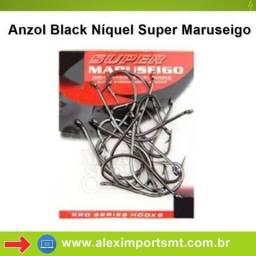 Anzol para Pesca Aço Black Níquel Super Maruseigo Marine Sports Pacote com 15 Anzol