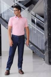 Calça jeans masculina básica tradicional para trabalho