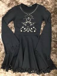 Vestido Preto Rodado