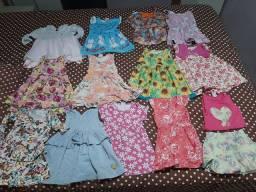 Lote de roupas infantis para menina com 13 peças