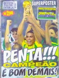 Poster Brasil Penta Campeao 2002