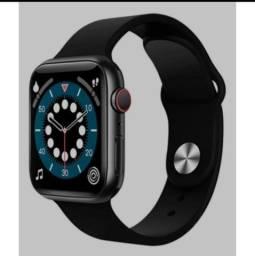 Relógio Ld6 smartwatch 44mm compatível Ios Android 2 pulseira versão global