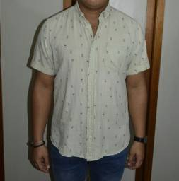 camisa manga curta primark