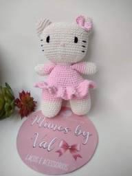 Título do anúncio: Hello Kitty Boneca Amigurumi Brinquedo Última Peça