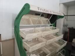 Expositor de frutas e verduras 12 caixas