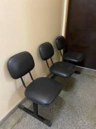 Título do anúncio: Longarinas 3 cadeiras cada