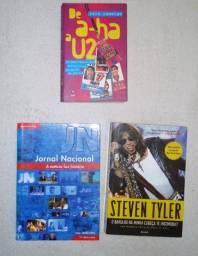 Livros Steven Tyler , Zeca Camargo e Jornal nacional
