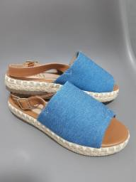 Sandália Flatform  Jeans
