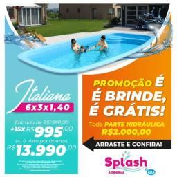 Promoção piscina Splash 6x3x1.4m
