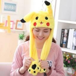 Gorro Pikachu Mexe as orelhas