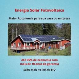 Título do anúncio: Energia Solar Fotovoltaica - Economia e Autonomia para sua casa e empresa