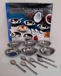 Conjunto de Taças para Sobremesa - 12 Peças - MegaInox