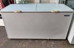 Freezer horizontal 550 litros duas tampas com garantia, parcelo