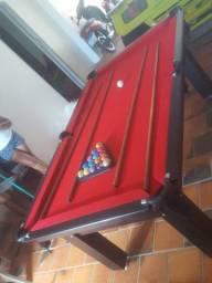 Mesa Tentação Redinha Cor Preta Tecido Vermelho Mod. LGKH0473