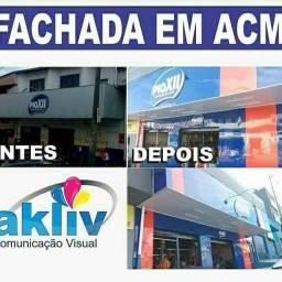FACHADAS ACM  PLACAS E ADESIVOS