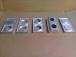 Moldes 12,5x25  para prensa de tijolos ecológicos