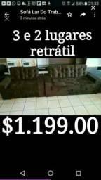 Oferta sofá retrátil Novo direto da fábrica