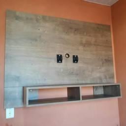 Painel de MDF(sem marcas de uso)acompanha suporte pra TV