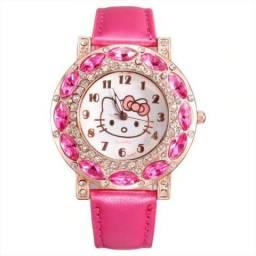 Relógio De Criança Feminino Adolescentes Hello Kitty