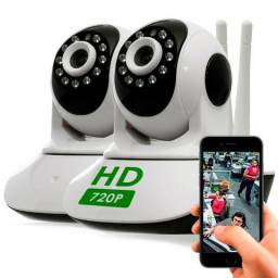 Combo 2 Cameras Ip Sem Fio Hd 720p 1.3 Mp Wi fi Noturna Gira 360 Graus - Frete Grátis