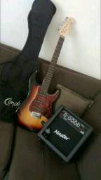 Vende-se Guitarra Giannini + Cubo Master + Afinador