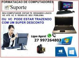 Formatação de pc e Notebook em domicílio 35 reais (promoção)
