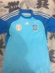 Camisa original Seleção Espanha ( azul bebe ) 2010