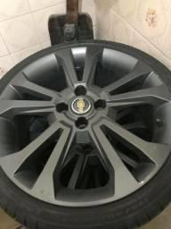Rodas Réplicas Onix aro 17 4x100 Pneus Pirelli 195/40 17