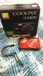 Câmera Nikon Coolpix S3400 Usada