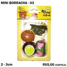 Mini Borracha Frutas e Verduras - Cartela 03