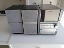 Aparelho de Som Panasonic Audio System p/ 5 CD´s 60 Watt