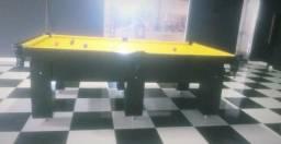 Mesa Charme MDF Cor Preta Tecido Amarelo Mod. GLDS1784