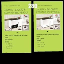 Balcão para cooktop em oferta, para 5 bocas
