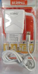 Carregador de Celular Rápido para Iphone 3.4A + 3 Portas USB