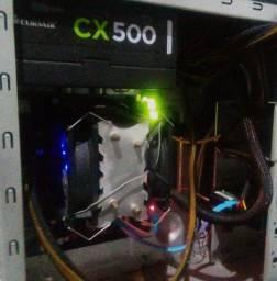 Kit Pentium g4560 7 sétima geração com 8gb ram rgb + fonte corsair 500