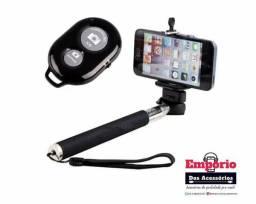 Bastão Selfie C/ Controle Bluetooth Selfie Rod