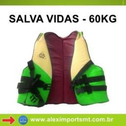Colete Salva Vidas 60 Kg com Protetor de Pescoço Anplus Colorido - CVS-060-CPP