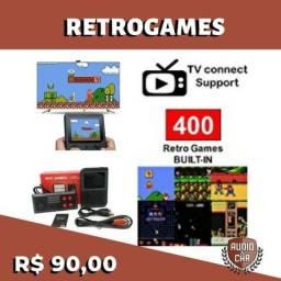 Retrogame com 400 jogos