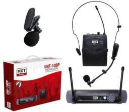 Microfone Sem Fio Cabeça e Lapela UHF 10 BP