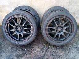 Jogo de roda aro 17 com pneus