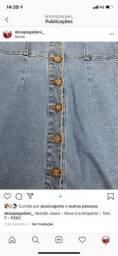 Vestido jeans com botão