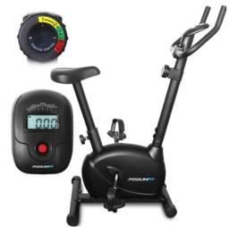 Bicicleta Ergométrica PodiumFit V100 Magnética 8cargas Max120Kg Silenciosa