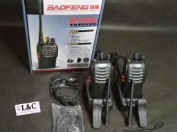Kit Rádio Comunicador Walk Talk Baofeng Bf-777S + Fone de Ouvido