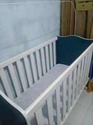 Título do anúncio: Berço infantil azul com branco